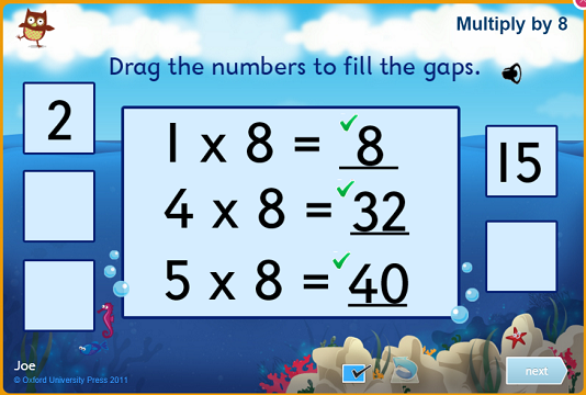 Free times table games
